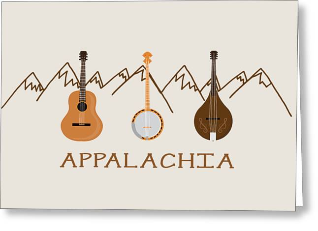 Appalachia Mountain Music Greeting Card by Heather Applegate