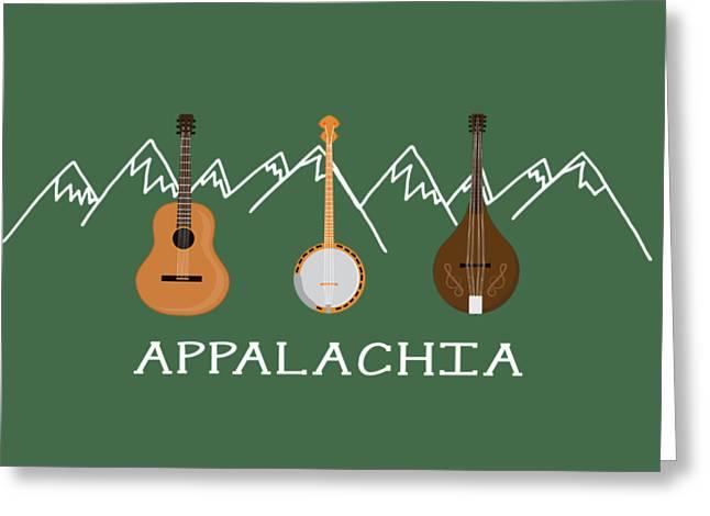 Appalachia Mountain Music White Mountains Greeting Card by Heather Applegate