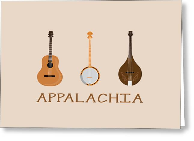 Appalachia Music Greeting Card by Heather Applegate