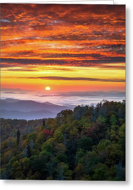 Appalachian Mountains Asheville North Carolina Blue Ridge Parkway Nc Scenic Landscape Greeting Card