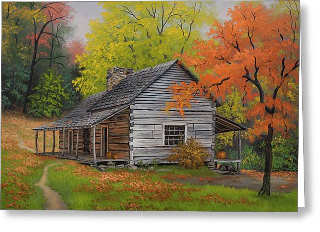 Appalachian Retreat-autumn Greeting Card by Kyle Wood