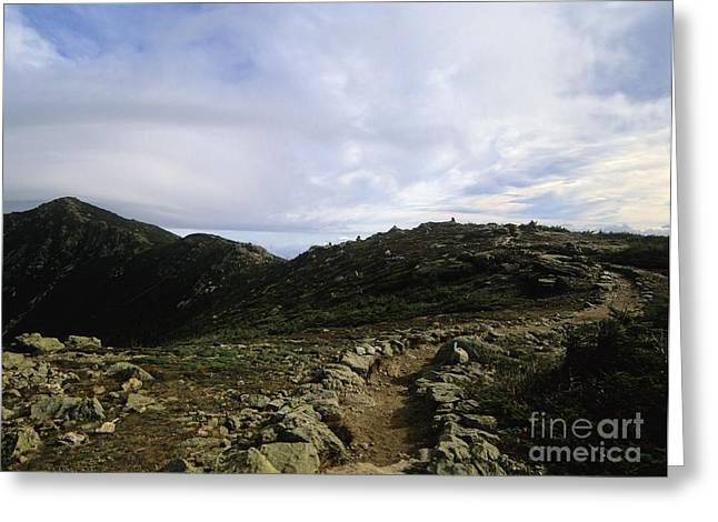 Appalachian Trail - Mount Lincoln - White Mountains New Hampshire Usa Greeting Card