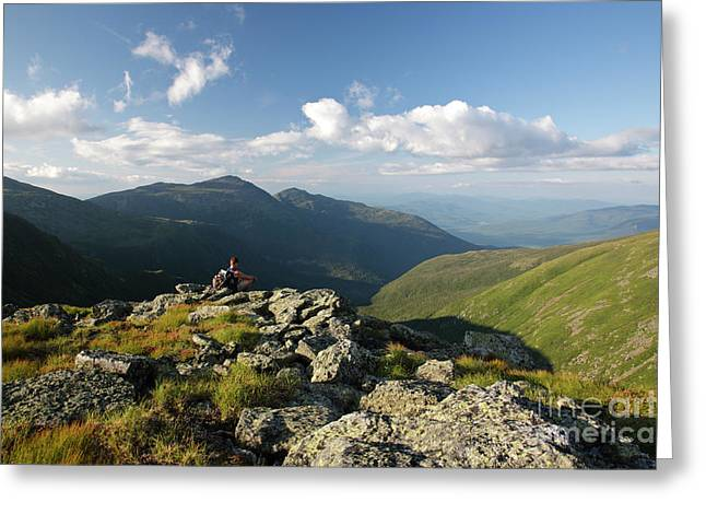 Mid Adult Men Greeting Cards - Appalachian Trail  - White Mountains New Hampshire Greeting Card by Erin Paul Donovan