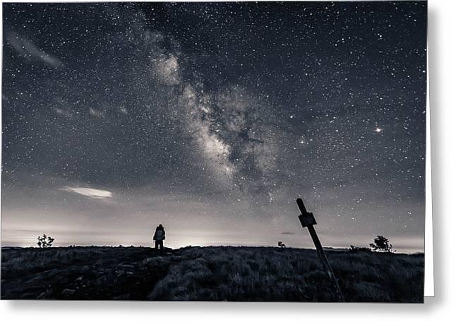 Appalachian Trail Hike At Night Greeting Card by Serge Skiba