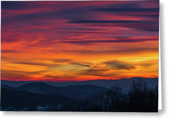 Appalachian Twilight Ecstasy Greeting Card