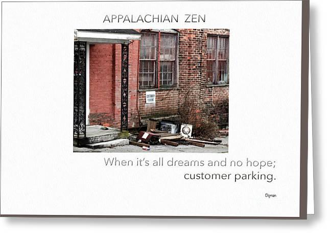 Appalachian Zen Greeting Card by Steven Digman