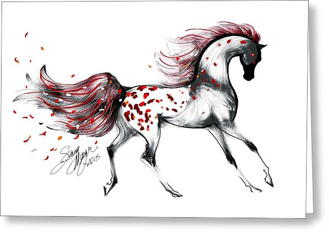 Appaloosa Rose Petals Horse Greeting Card