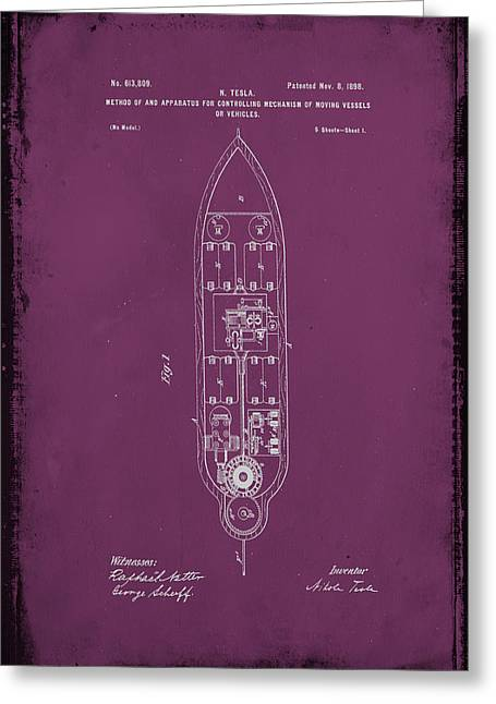 Apparatus For Controlling Moving Vessels Patent Drawing 1b Greeting Card