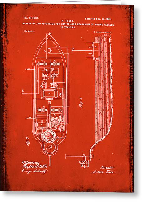 Apparatus For Controlling Moving Vessels Patent Drawing 2c Greeting Card