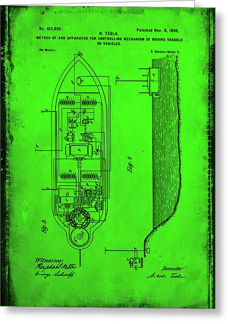 Apparatus For Controlling Moving Vessels Patent Drawing 2f Greeting Card