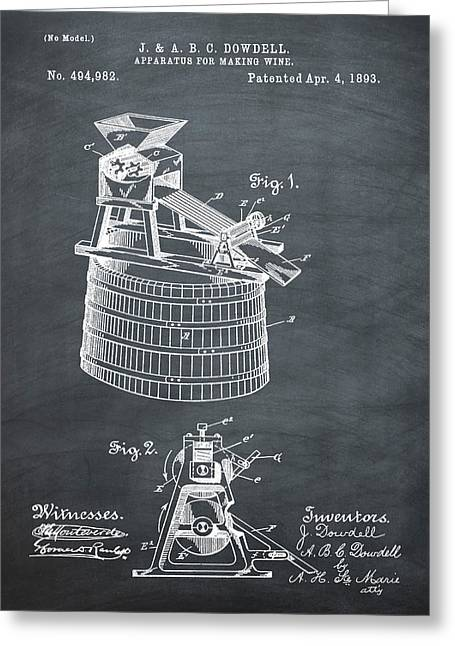 Apparatus For Making Wine Patent 1893 Chalk Greeting Card