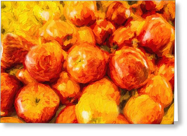 Apple A Day - Impressionism Greeting Card by Barry Jones