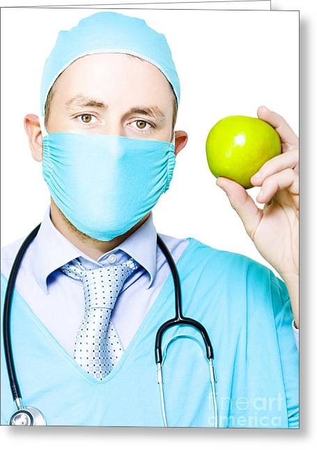 Apple A Day Keeps The Doctor Away Greeting Card by Jorgo Photography - Wall Art Gallery