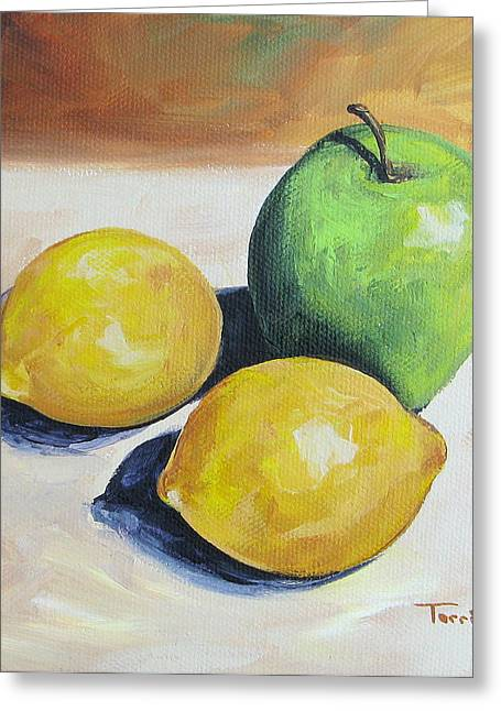 Apple And Lemons Greeting Card