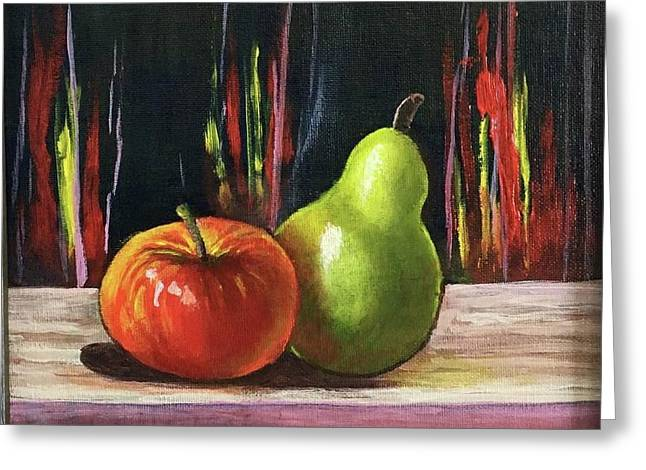 Apple And Pear Greeting Card