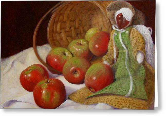 Greeting Card featuring the painting Apple Annie by Donelli  DiMaria