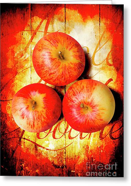 Apple Barn Artwork Greeting Card
