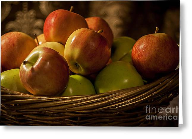 Apple Basket Greeting Card