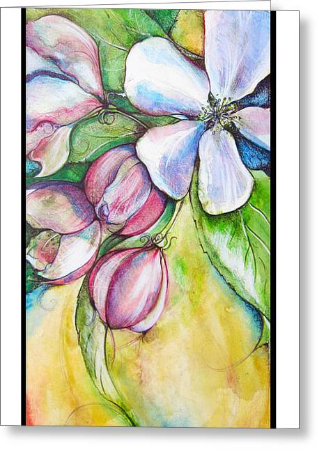 Apple Blossom Greeting Card by Clare Catling