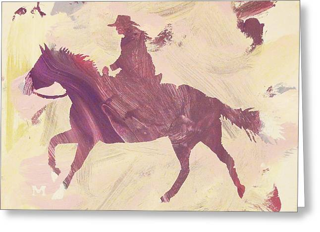 Apple Cowgirl Greeting Card