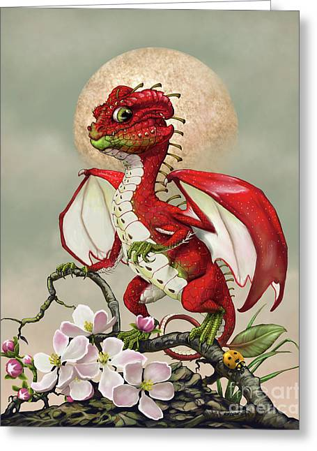 Apple Dragon Greeting Card by Stanley Morrison