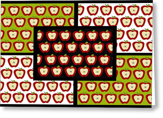 Greeting Card featuring the digital art Apple For The Teacher- Cute Art by KayeCee Spain