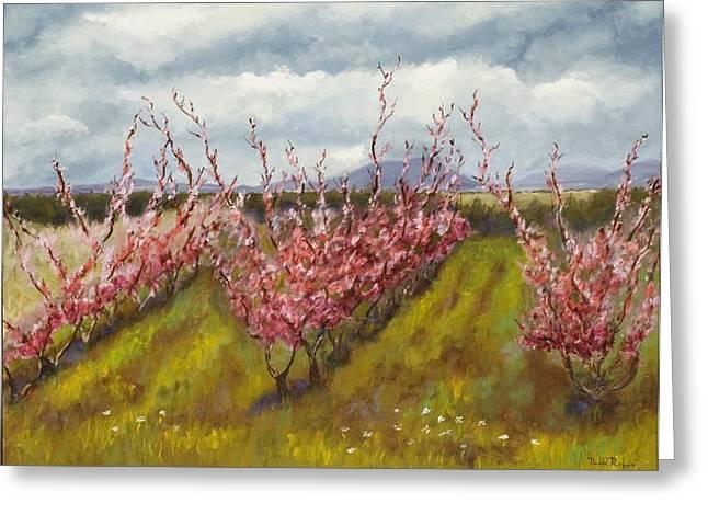 Apple Hill Springtime Greeting Card by Brenda Williams