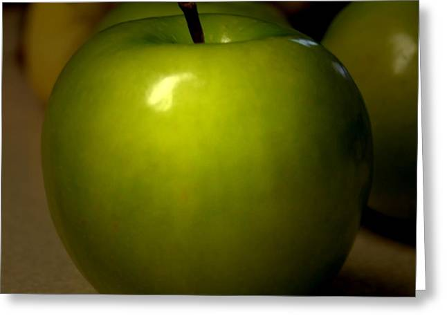 Apple Greeting Card by Linda Sannuti