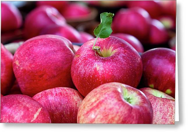 Apple Love Greeting Card by Teri Virbickis