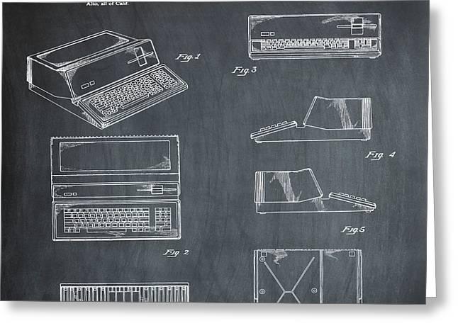 Apple Macintosh Patent 1983 Chalk Greeting Card