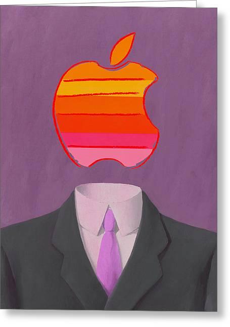Apple-man-2 Greeting Card
