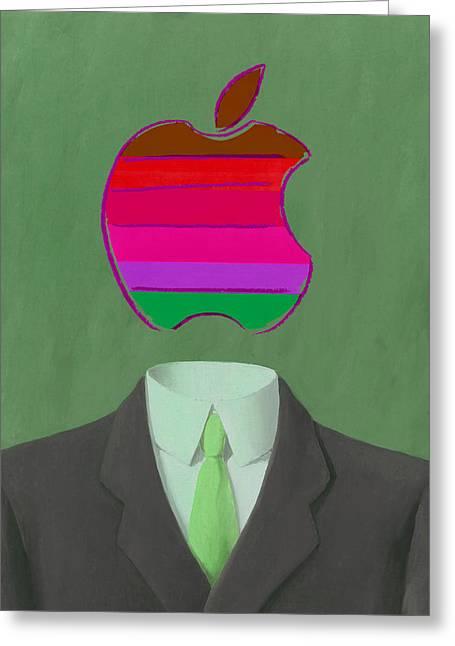 Apple-man-3 Greeting Card