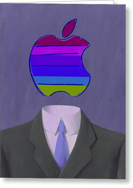 Apple-man-4 Greeting Card