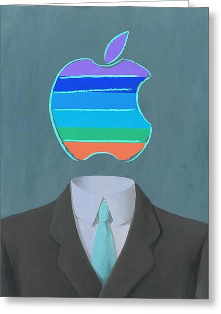 Apple-man-5 Greeting Card