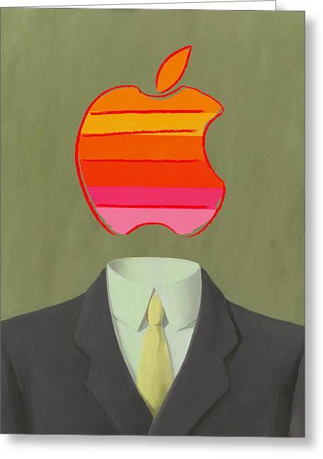 Apple-man-6 Greeting Card