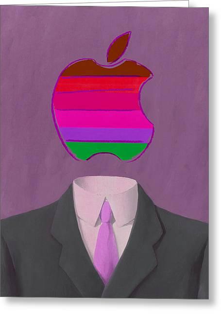 Apple-man-7 Greeting Card