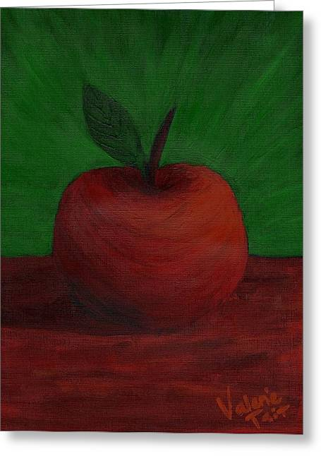 Apple Of My Eye Greeting Card by Valerie Tait
