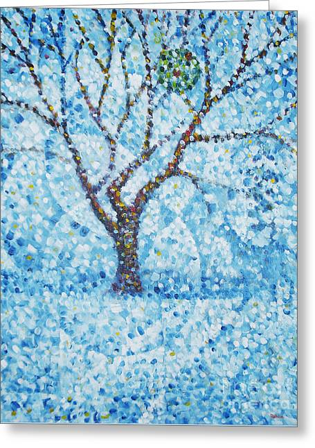 Apple Orchard / Winter Greeting Card by Jim Rehlin