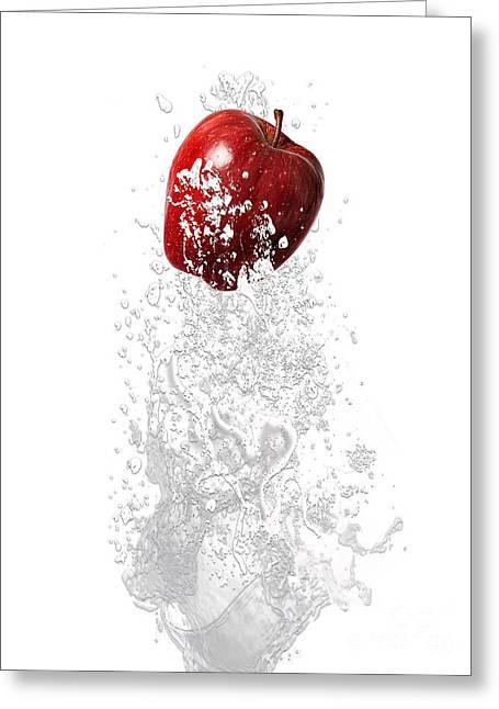 Apple Splash Greeting Card