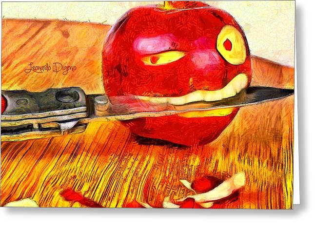 Apple Strikes Back Greeting Card by Leonardo Digenio