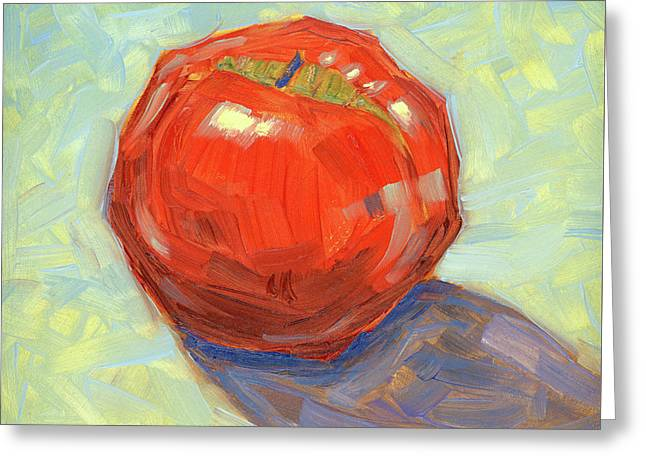 Round Red Apple I Greeting Card by Tom Taneyhill