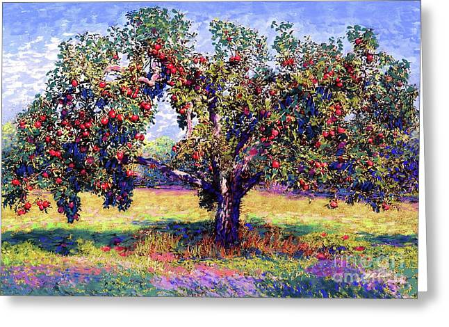 Apple Tree Orchard Greeting Card