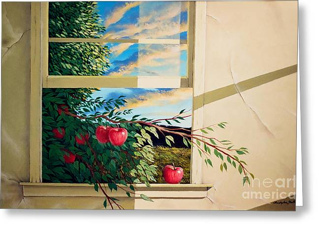 Apple Tree Overflowing Greeting Card