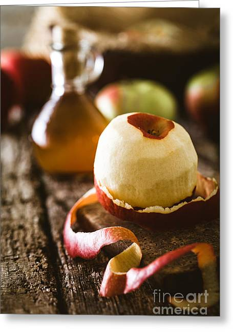 Apple Vinegar Greeting Card by Mythja Photography