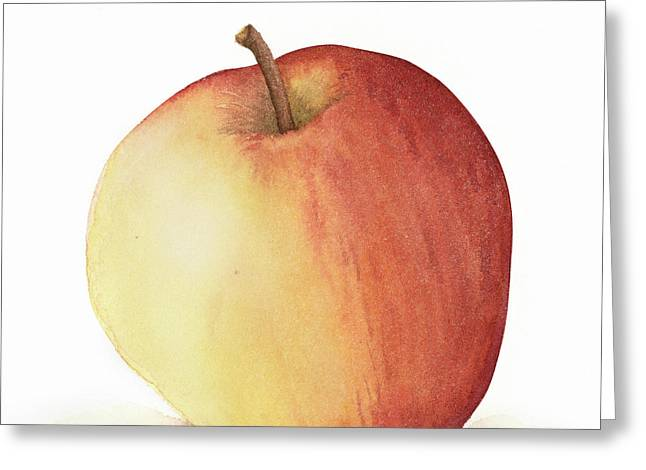 Apple Watercolor Greeting Card