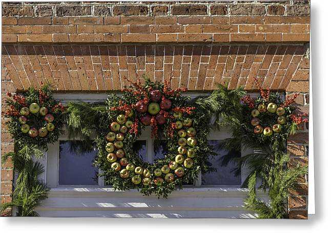 Apple Wreaths At The George Wythe House Greeting Card by Teresa Mucha