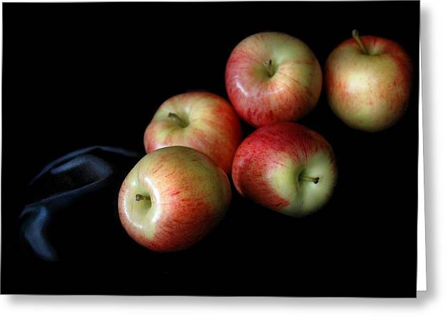 Appleanche Greeting Card by Dan Holm