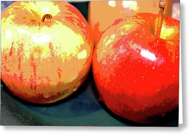 Apples Abstract 1 Greeting Card