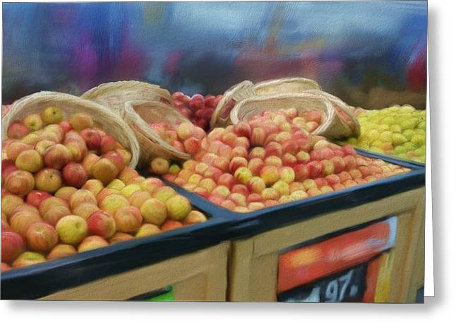 Apples And Baskets Greeting Card