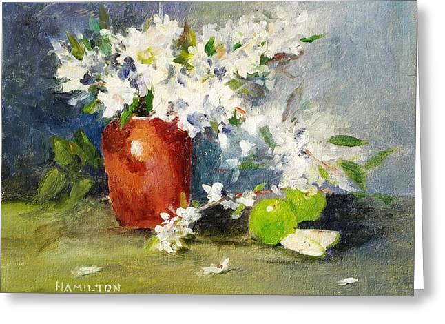 Apples And Blossoms Greeting Card